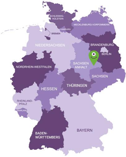 Karte Anhalt-Wittenberg