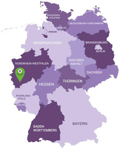 Karte Bergisches Land