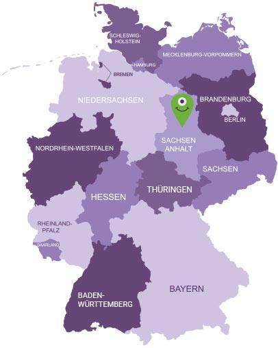 Karte Elbe-Börde-Heide