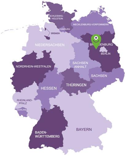 Karte Havelland