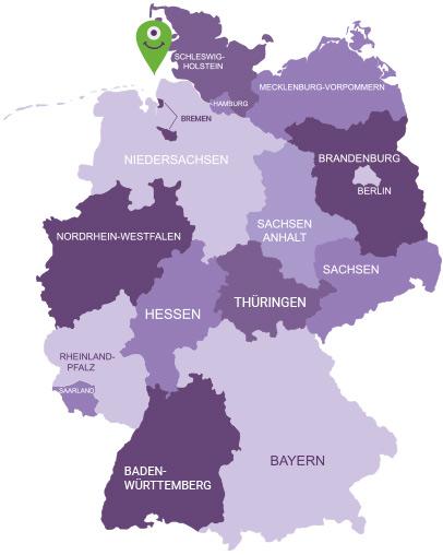Karte Mecklenburgische Seenplatte-Land