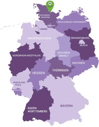 Karte Holsteinische Schweiz