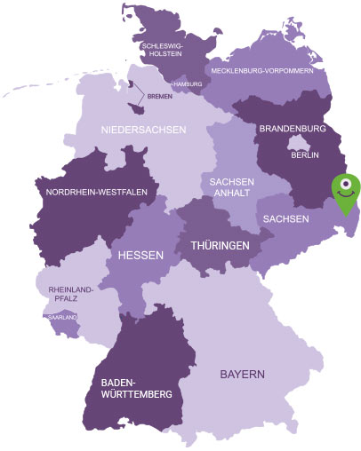 Karte Oberlausitz