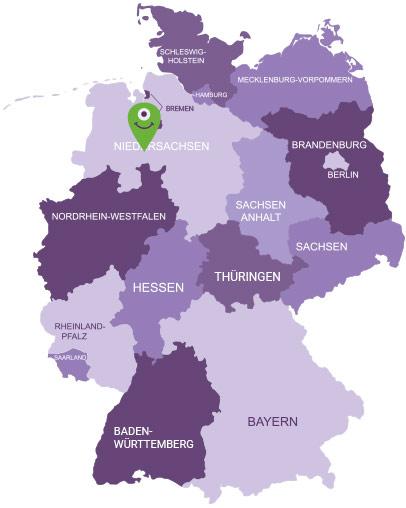 Karte Oldenburger Münsterland