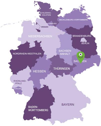Karte Sächsisches Burgen und Heideland