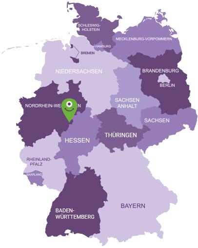 Karte Siegerland - Wittgenstein