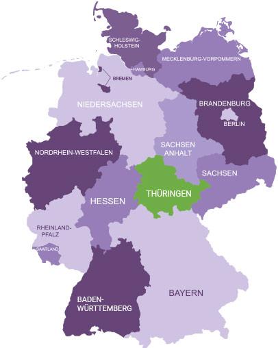 Karte Thüringen