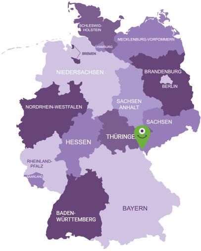 Karte Vogtland