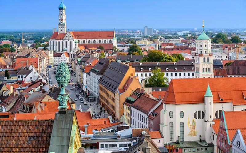 Die Altstadt von Augsburg