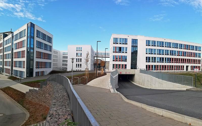Chemnitz ist eine moderne Stadt wie man auch am Technischen Rathaus der Stadt sieht
