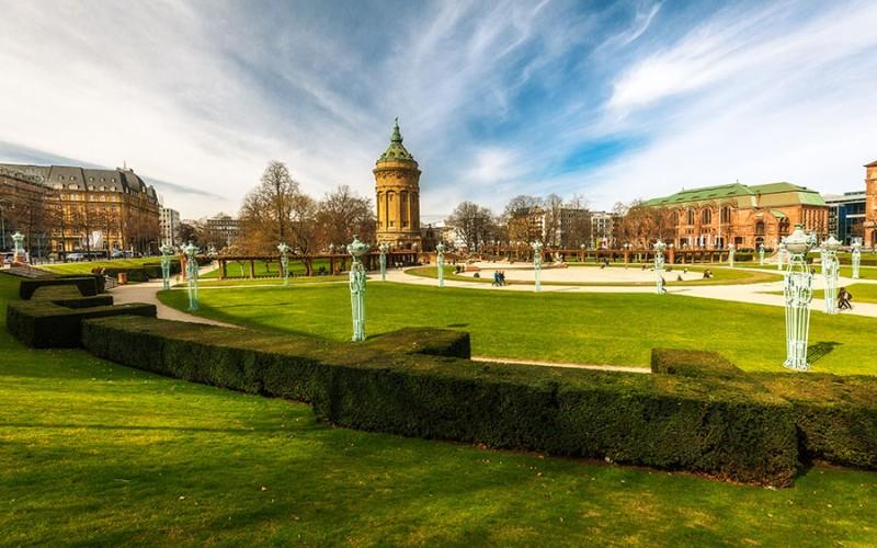 Mannheim ist unter anderem berühmt für seine vielen Grünanlagen
