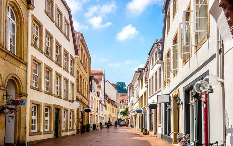 Osnabrück bietet viele Shoppingmöglichkeiten und kulturelle Möglichkeiten