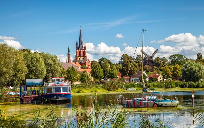Werder an der Havel liegt auf einer Insel inmitten der Havel