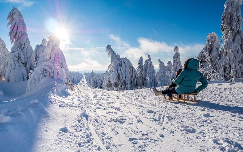 Das Erzgebirge ist prädistiniert für Wintersport