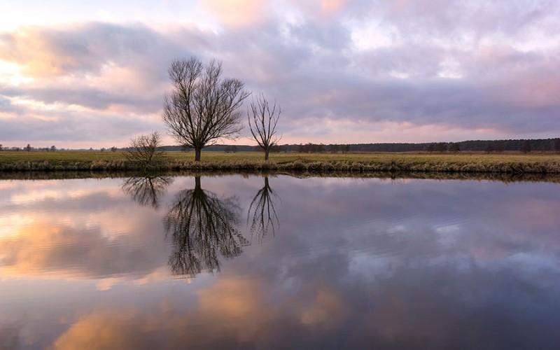 Einsame verträumte Landschaften bietet die Ferienregion Prignitz, hier bei Wittenberge