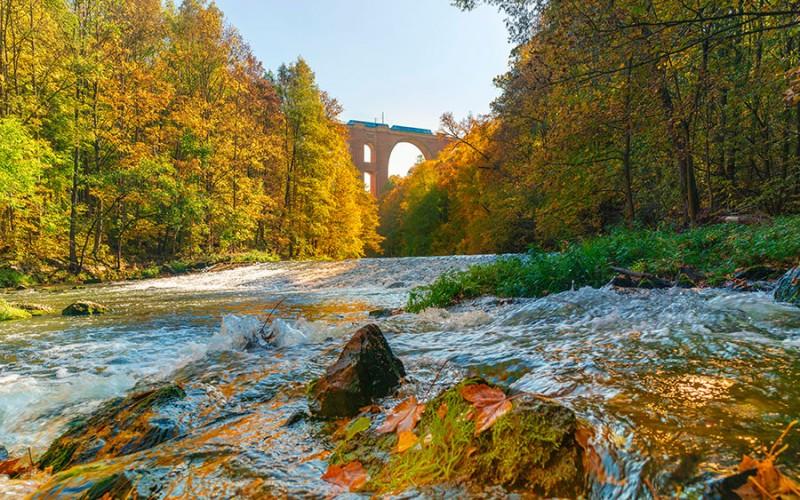 Das Elster Viadukt im Vogtland