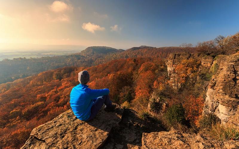 Fantastischer Ausblick vom Hohenstein über das Weserbergland