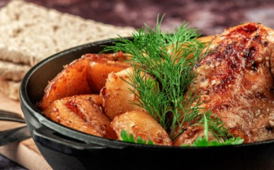 Bratkartoffeln mit Fleisch - traditionell und vielgeliebt