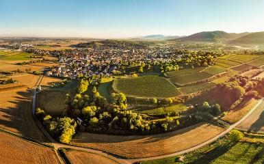 Blick über die zauberhafte Landschaft Richtung Friesenheim